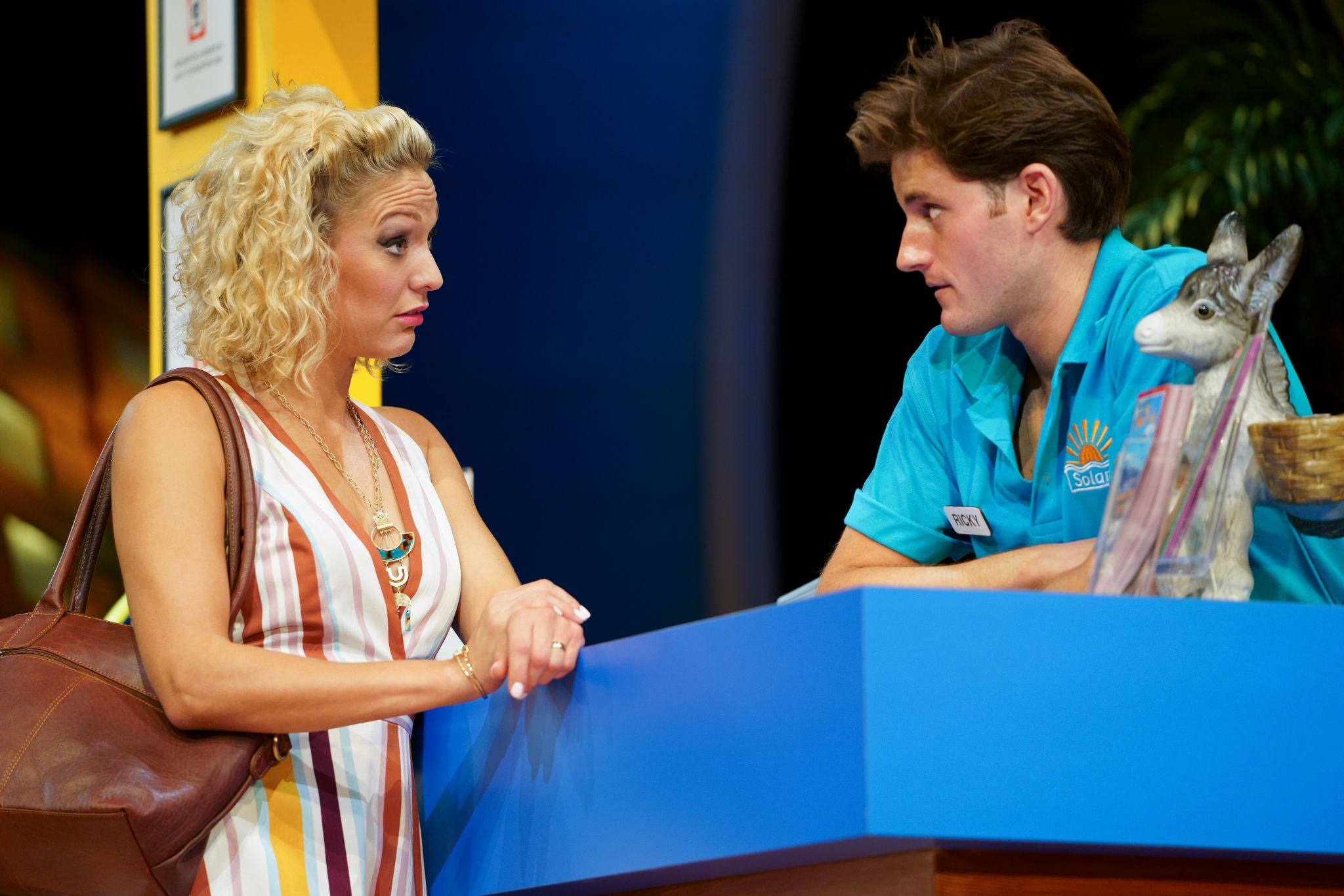 4. BENIDORM LIVE. Tricia Adele-Turner 'Sophie' and Will Jennings 'Ricky'. Photo Paul Coltas