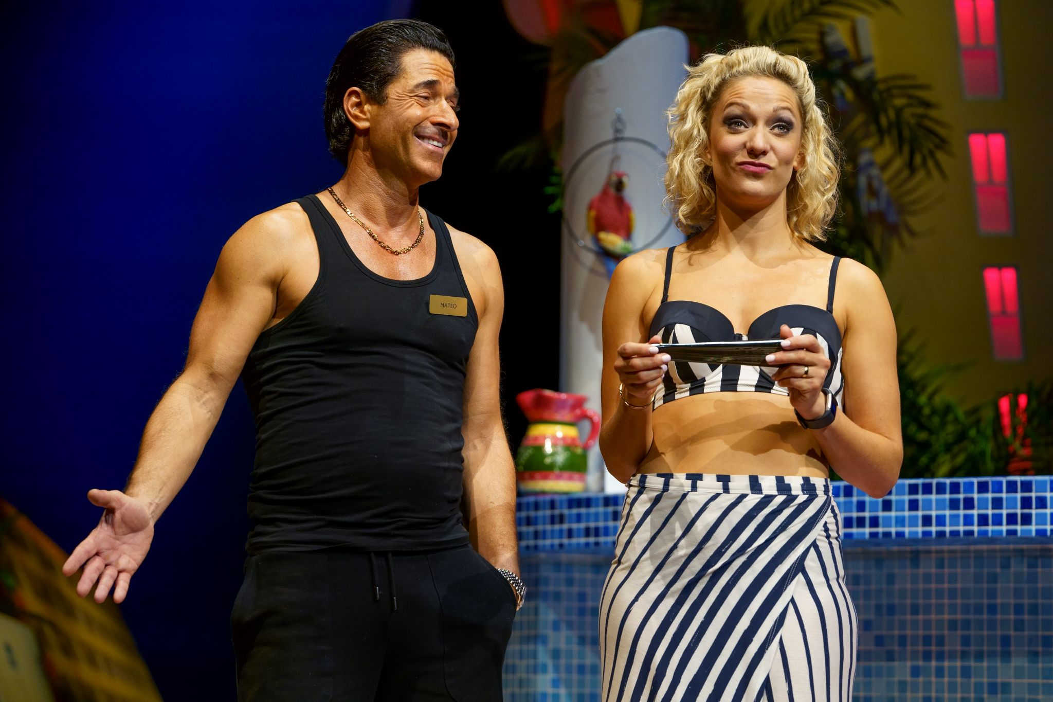8. BENIDORM LIVE. Jake Canuso 'Mateo' and Tricia Adele-Turner 'Sophie'. Photo Paul Coltas